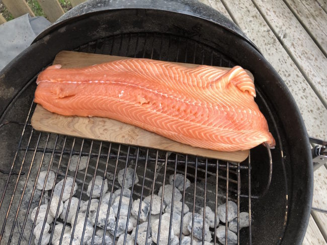 Salmon on the Weber Grill