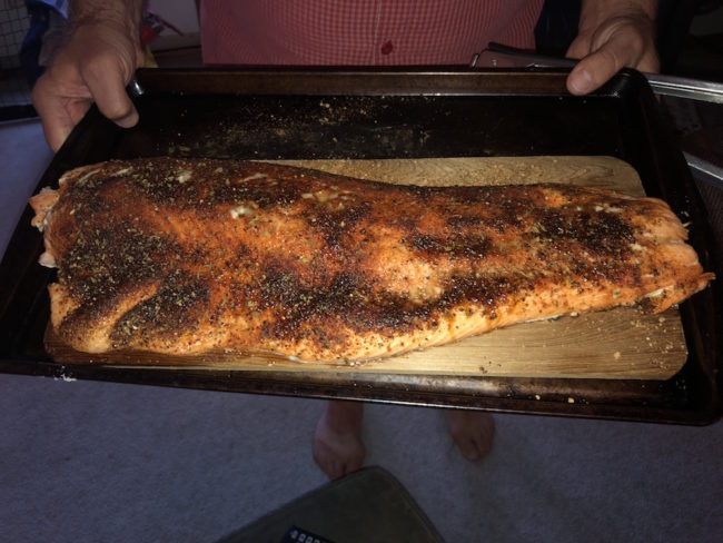 Cedar Planked Salmon - ready to serve