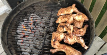 Chicken Legs on the Weber Kettle Grill