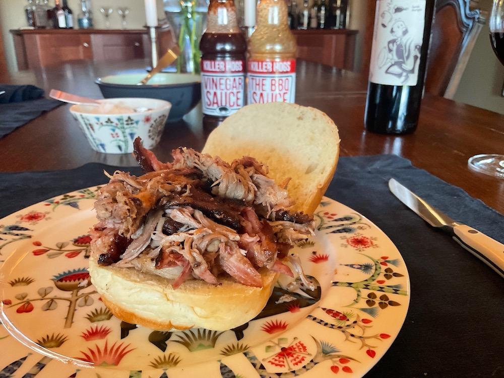 Pulled Pork Sandwich Au Naturel