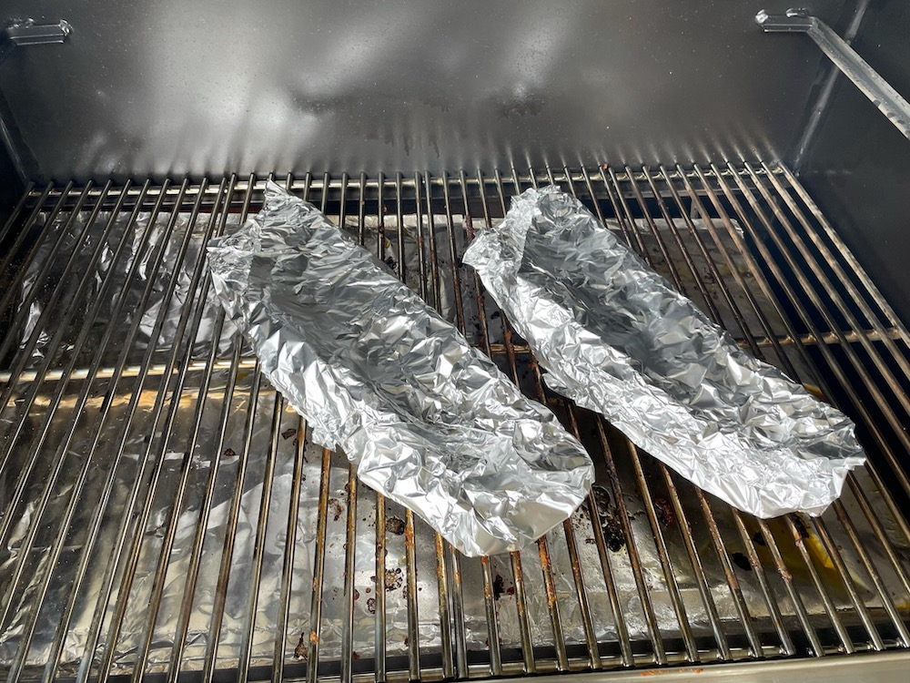 Back Ribs Wrapped in Foil with Glaze